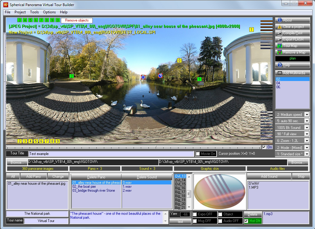 SP_VTB Virtual Tour compiler for Executable, Internet, ScreenSaver, Flash XML